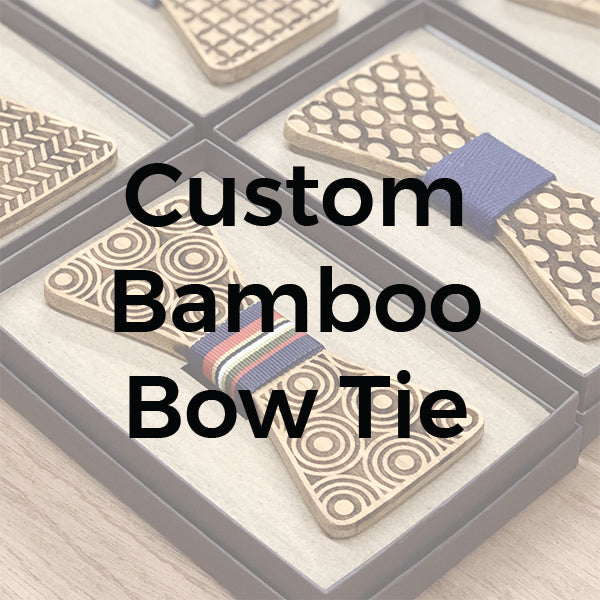 Custom Bamboo Wooden Bow Tie | Wood Bow Ties by OG Studio Creations