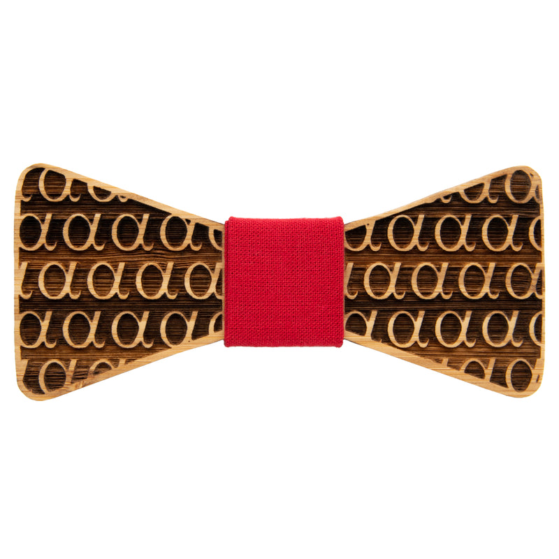 Alpha Bamboo Bow Tie | Wood Bow Ties byOG Studio Creations