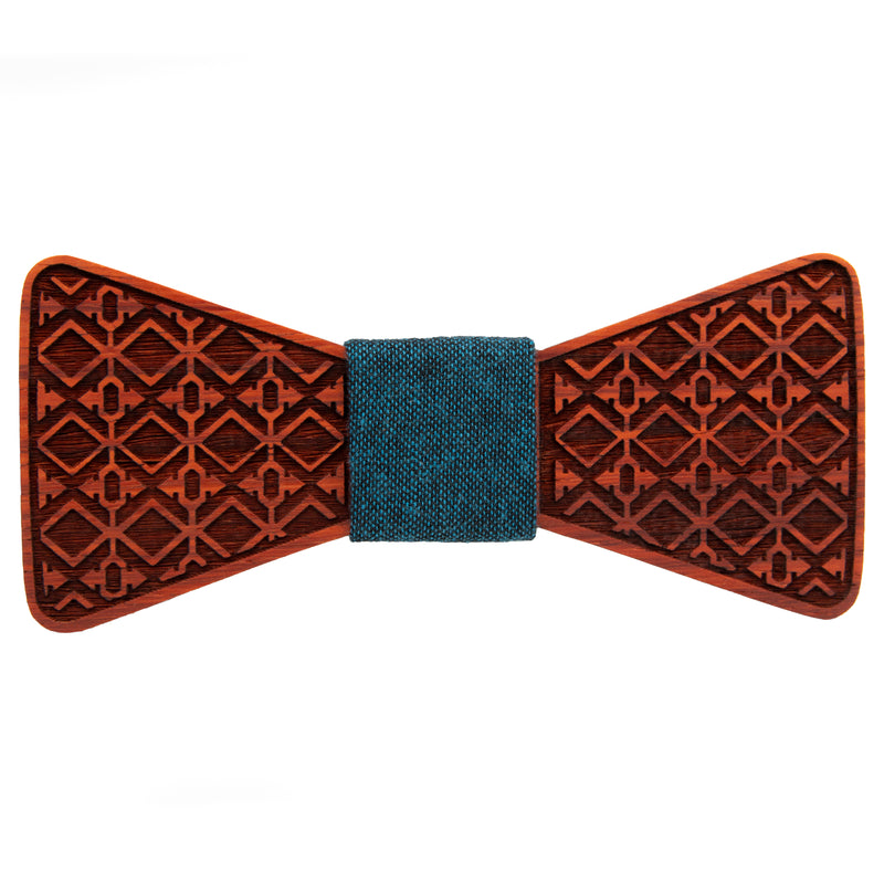 Aztec Padauk Wooden Bow Tie | Wood Bow Ties by OG Studio Creations