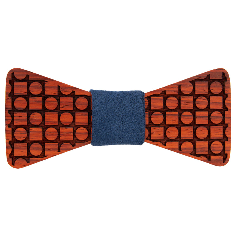 Circles and Squares Padauk Wooden Bow Tie | Wood Bow Ties by OG Studio Creations