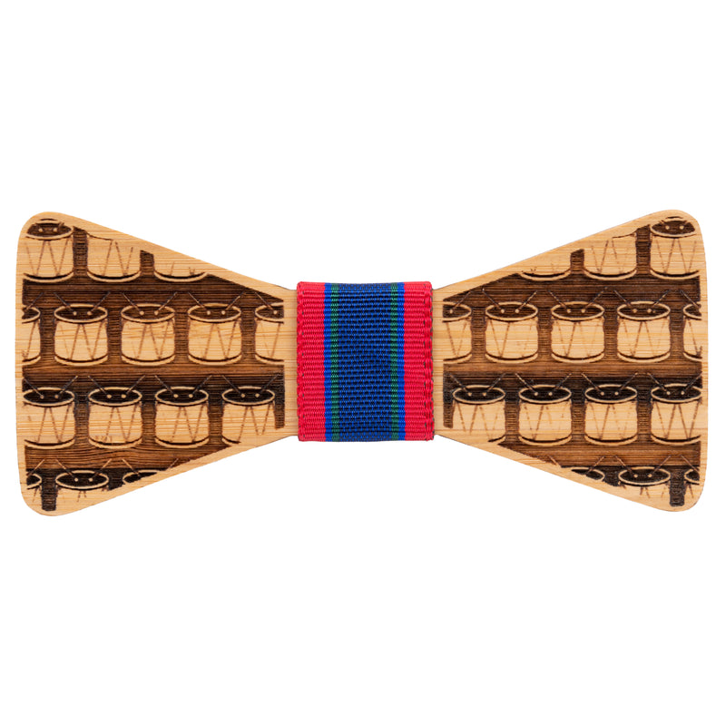 Drums Bamboo Wooden Bow Tie | Wood Bow Ties by OG Studio Creations
