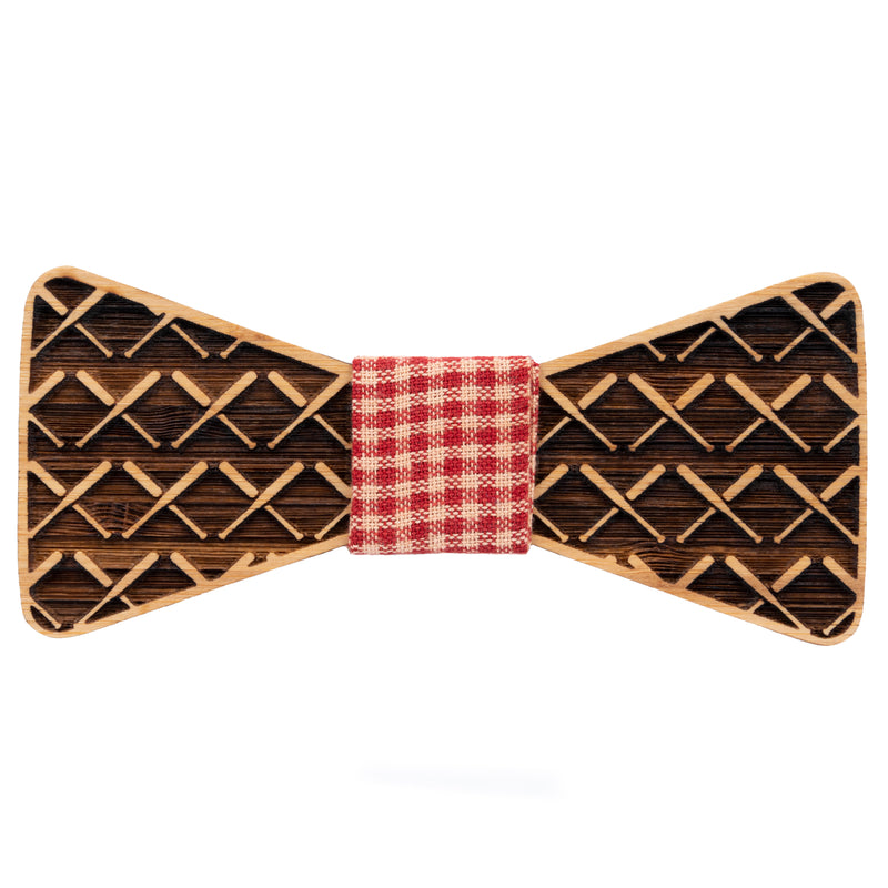 Baseball Bamboo Wooden Bow Tie | Wood Bow Ties by OG Studio Creations