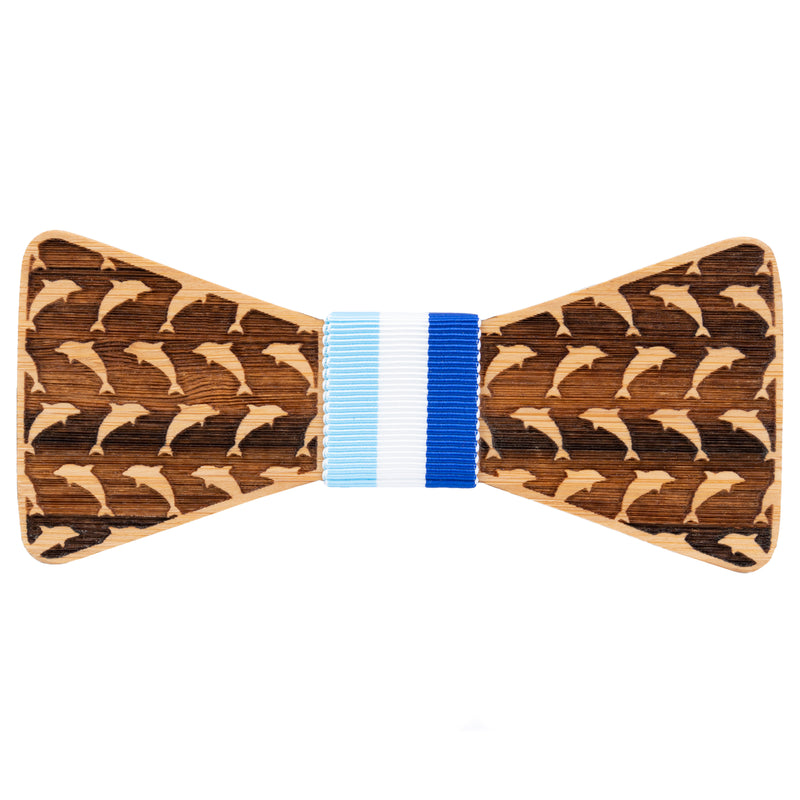 Dolphin Bamboo Wooden Bow Tie | Wood Bow Ties by OG Studio Creations