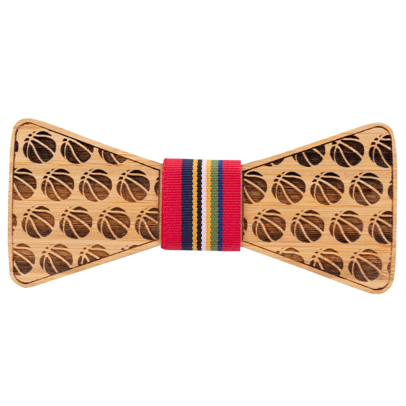 Basketball Bamboo Wooden Bow Tie | Wood Bow Ties by OG Studio Creations