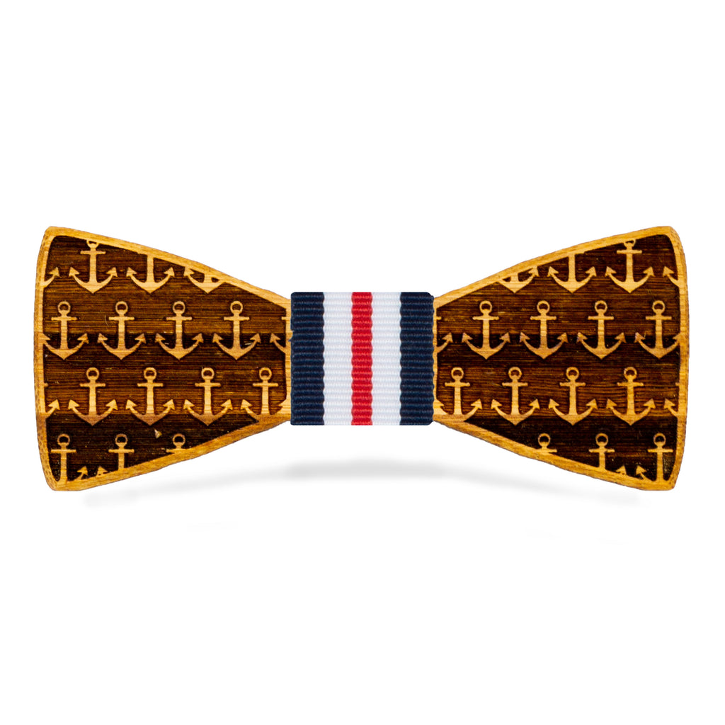 Anchors Away: Bamboo Bow Tie