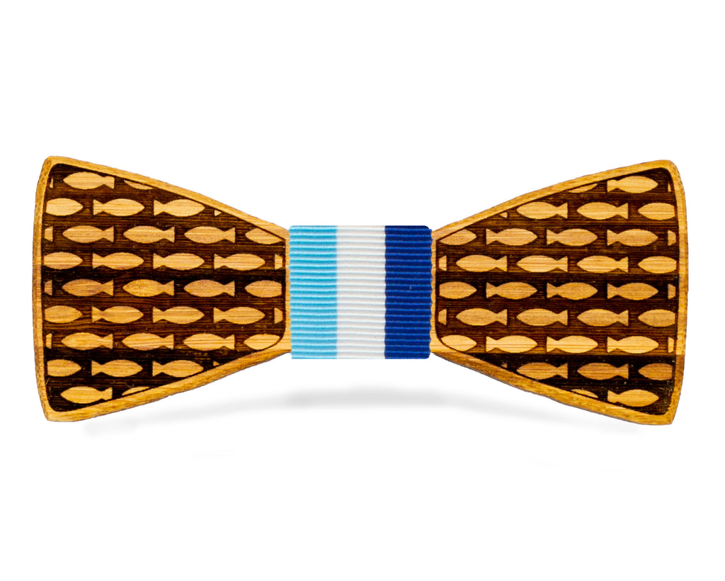 Fish Novelty Wooden Bow Tie Nantucket