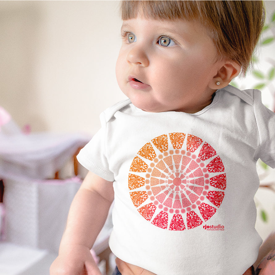 Mandala Red: Onesie