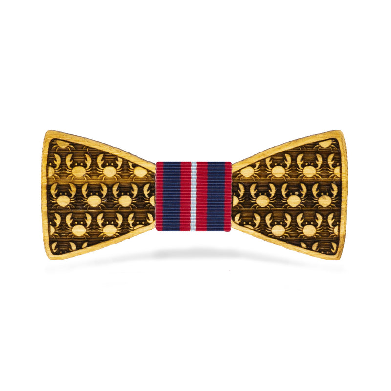 Crabby: Boy's Bamboo Bow Tie