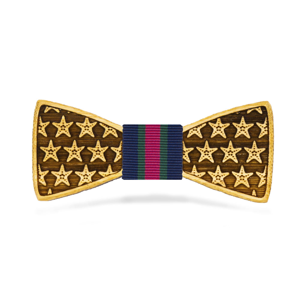 Starfish: Boy's Bamboo Bow Tie