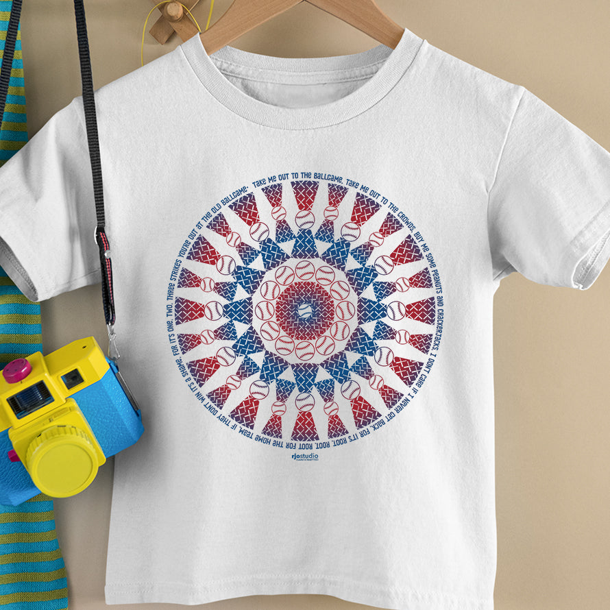 "Mandala ""Take Me Out to the Ballgame"": Toddler T-Shirt"