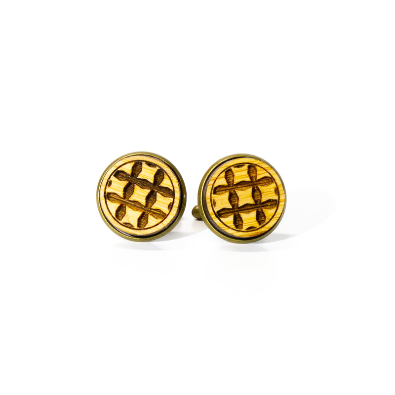 Pinched Squares: Bamboo Cufflinks