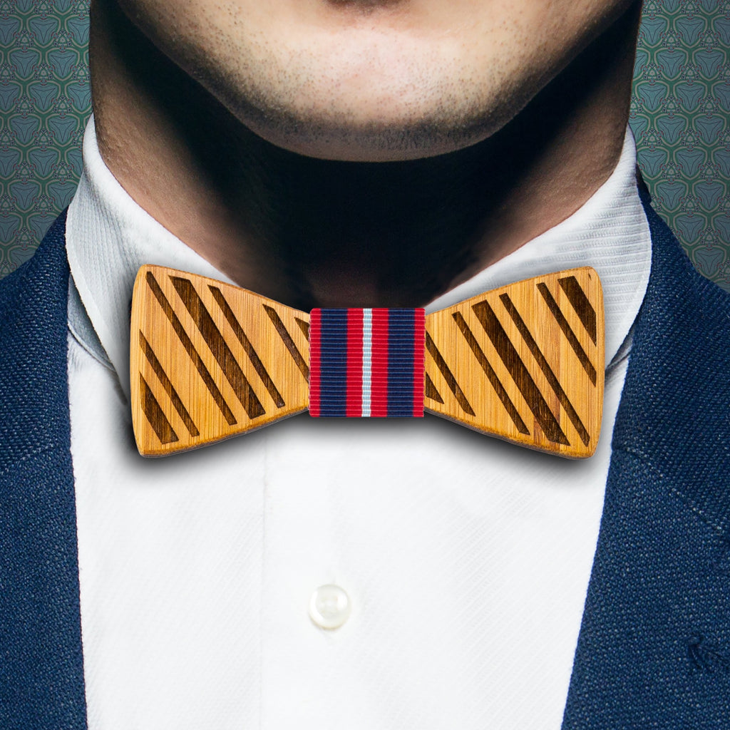 Stripes: Bamboo Bow Tie