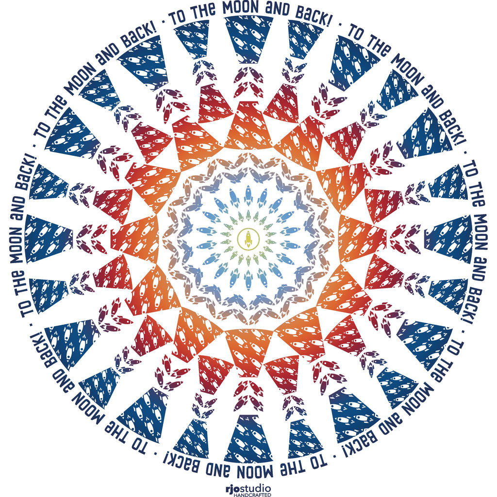 Mandala To the Moon: Toddler T-Shirt