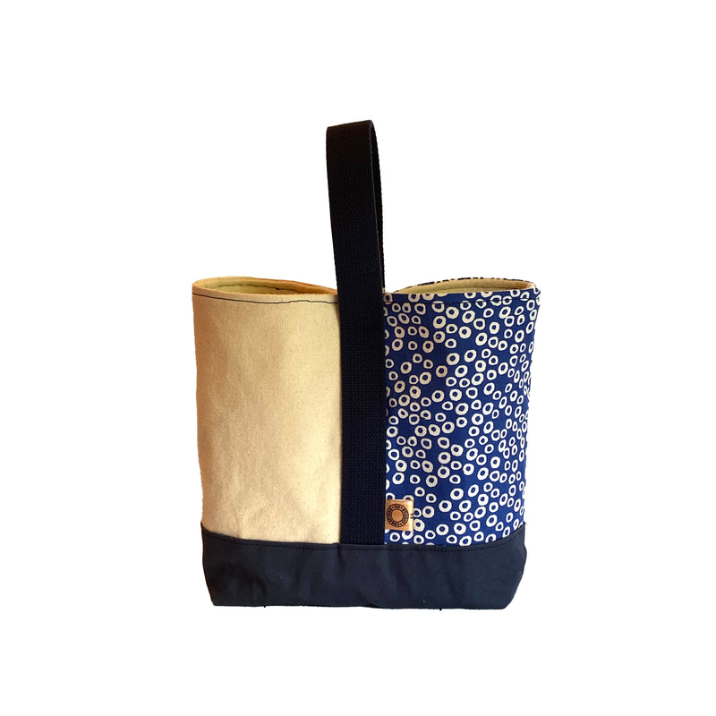 Wine Tote:  Blue Dots [READ 'DETAILS' FOR DONATION INFO]