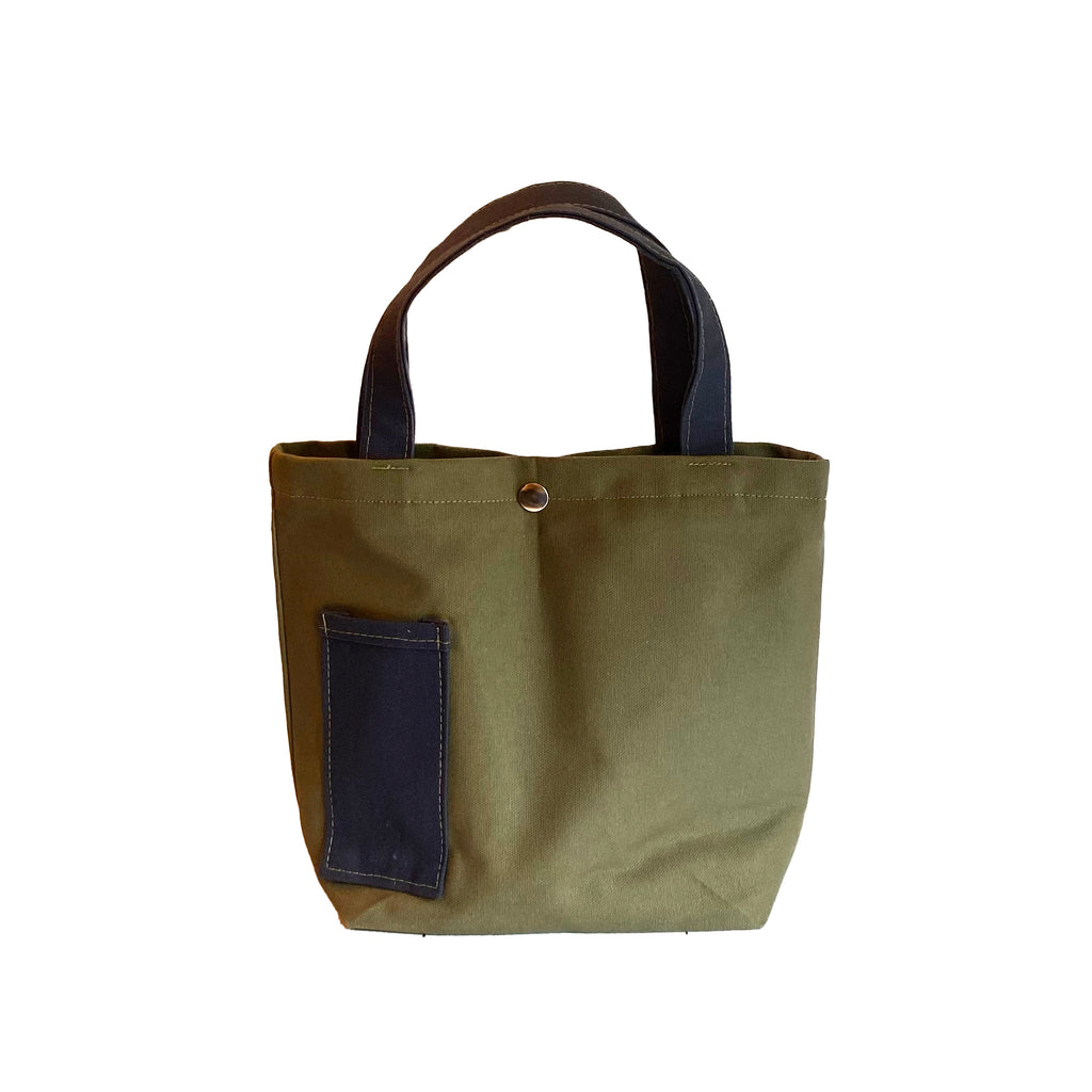Wine Tote:  Olive/Navy [READ 'DETAILS' FOR DONATION INFO]