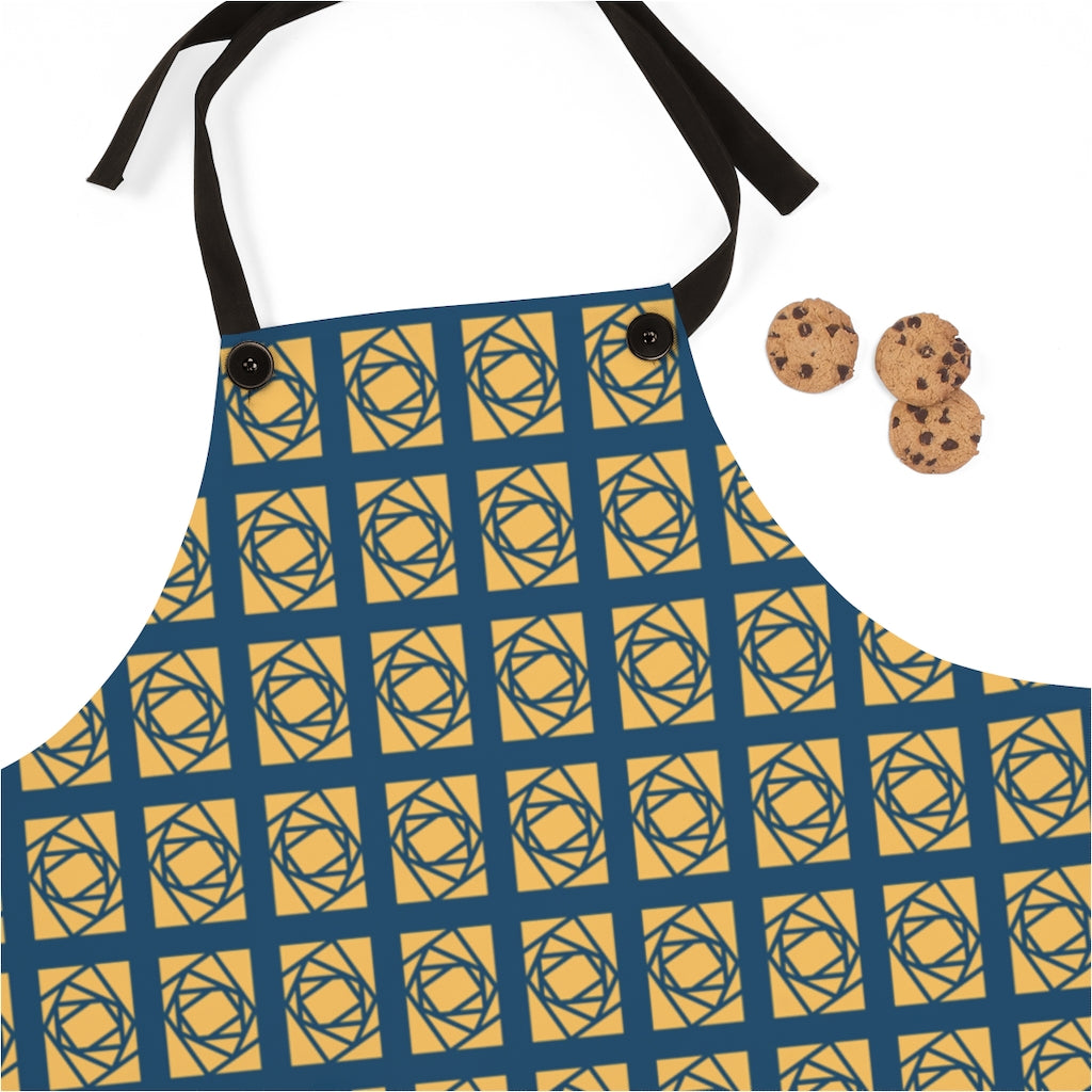 "Lantern ""Rotating Rectangles"" Apron"