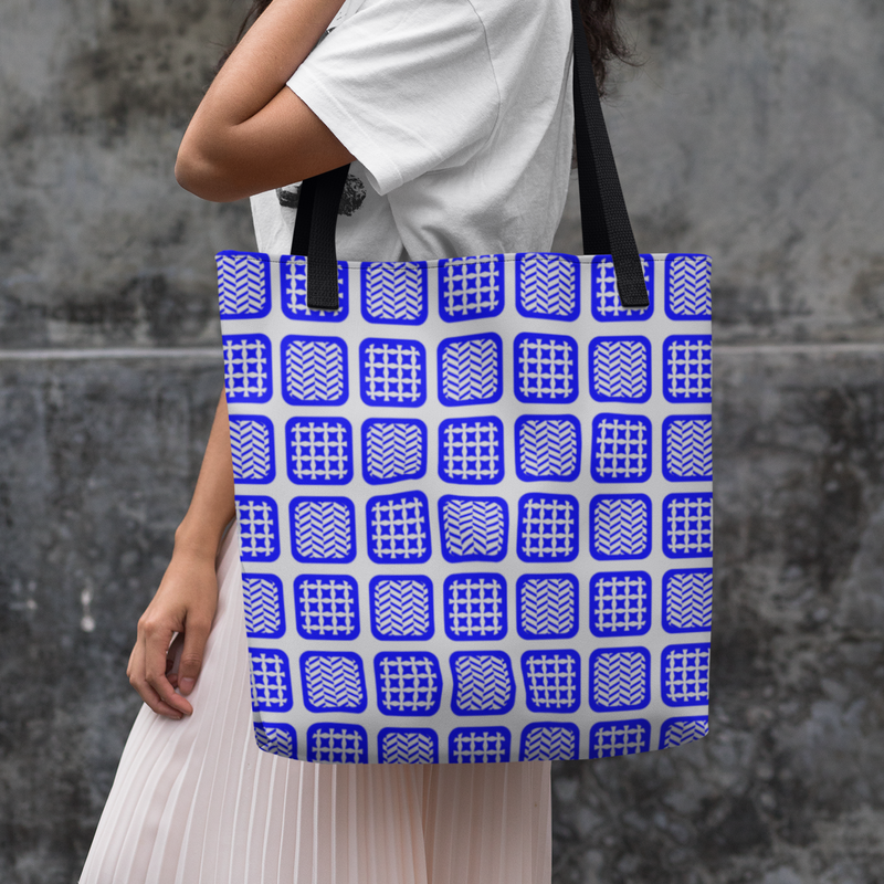 Cufflink Mosaic Beach Bag