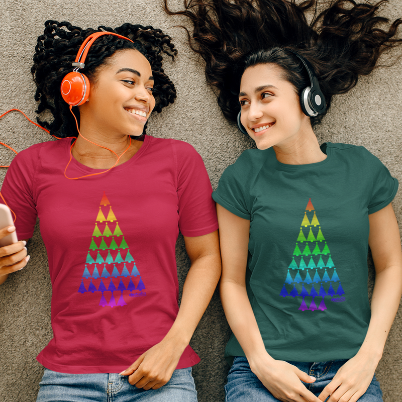 Christmas Tree Rainbow: Unisex T-Shirt