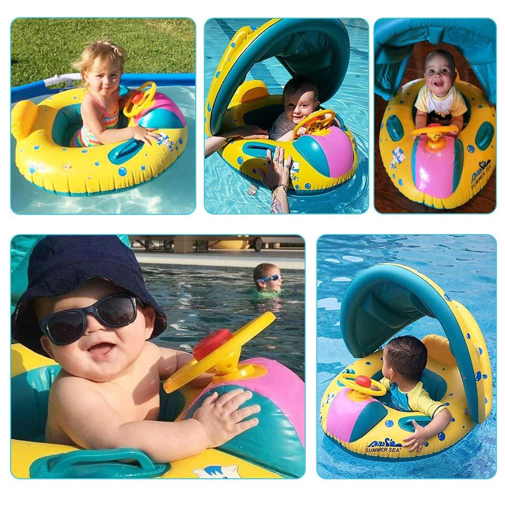 Inflatable Pool Float with Canopy | Freaky Inventions