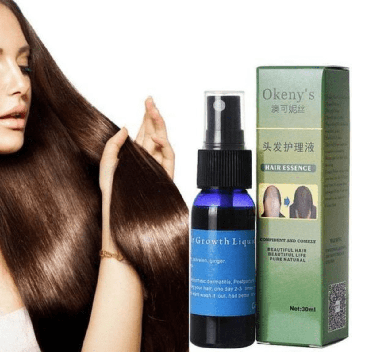Ginger Extract Fast Hair Growth Spray | Freaky Inventions