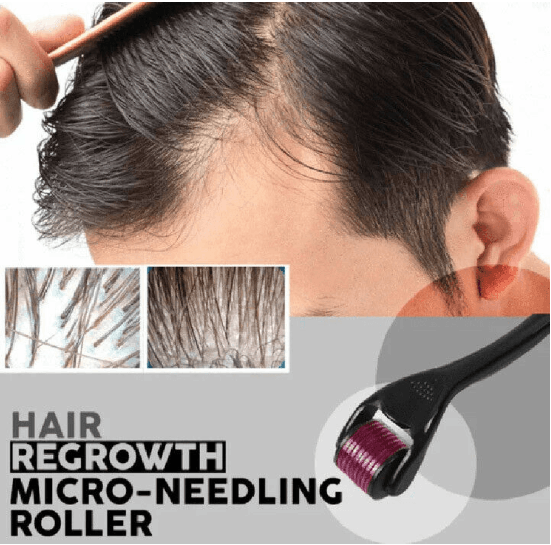 Micro-needle Dermal Roller For Hair Growth | Freaky Inventions
