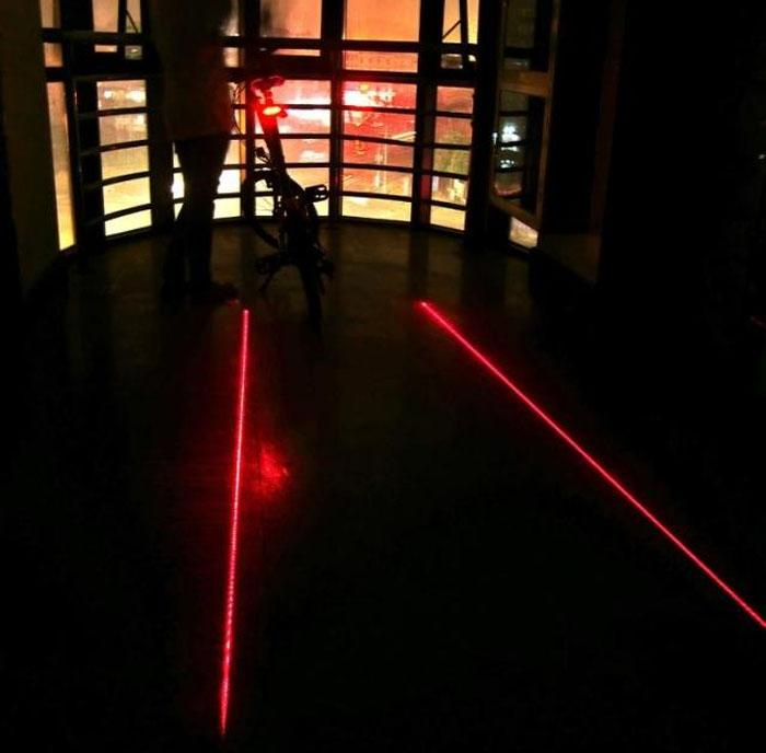 Cycling Laser Projector and LED Rear Tail Light | Freaky Inventions