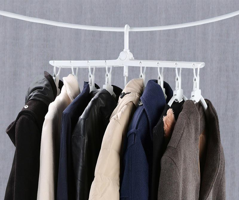 Magic Foldable 8 Hole Hangers Rack | Freaky Inventions