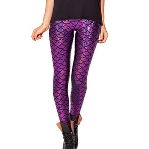 Holographic Mermaid Leggings | Freaky Inventions