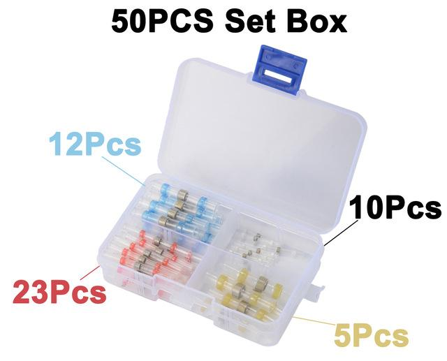 Waterproof Heat Shrink Solder Connector Kit (50 Pcs) | Freaky Inventions