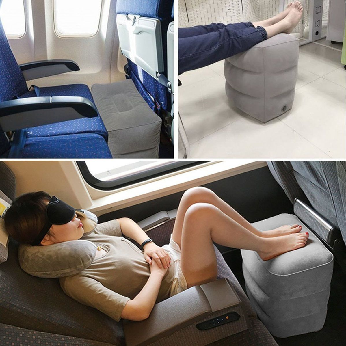 Portable Inflatable Foot Pillow | Freaky Inventions