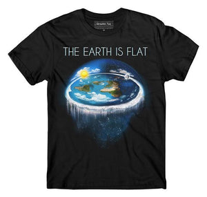 FE Society Flat Earth T-shirt | Freaky Inventions