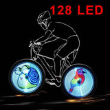 64/128 LED DIY Bicycle Light Programmable Bike Wheel Spokes Light Screen Display Image For Night Cycling
