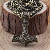 Viking Scandinavian Norse Thor's hammer pendant necklace