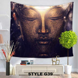 "Beautiful Large Buddha Inspired Printed Tapestry Measures 59"" x 78.74"""