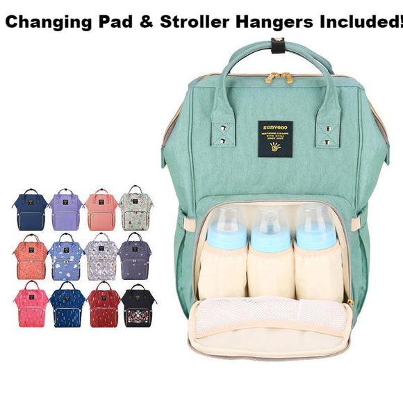 Large Designer Backpack Diaper Bag