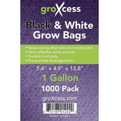 GroXcess Black & White Grow Bag, 1 Gal