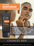 Chamuel Men Post Shave Face Lotion – All Natural SPF for Sensitive, Dry, Oily or Combo Skin