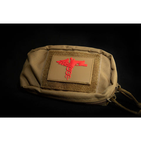 Image of Trauma Logo Patch Patch The Musa Store COYOTE BROWN