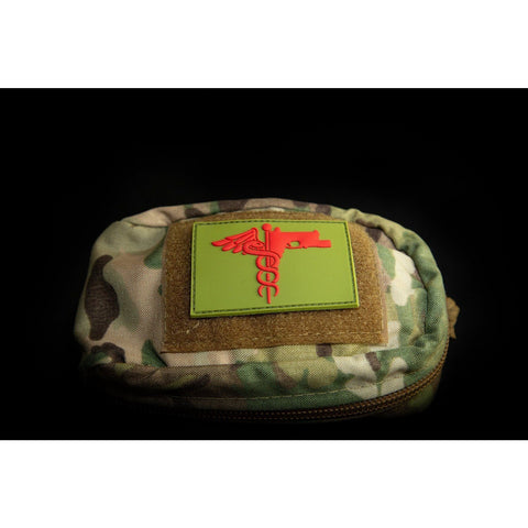 Image of Trauma Logo Patch Patch The Musa Store CANTEEN GREEN