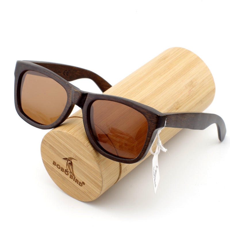 Redro Brown Wood Sunglasses