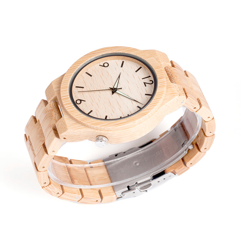 Beige Bamboo Wooden Watch