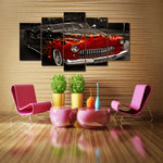 Vintage Flame Car Wall Art