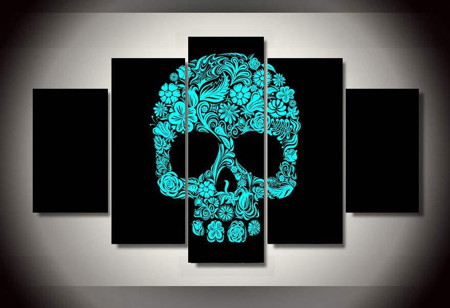 Skull Pattern Wall Art
