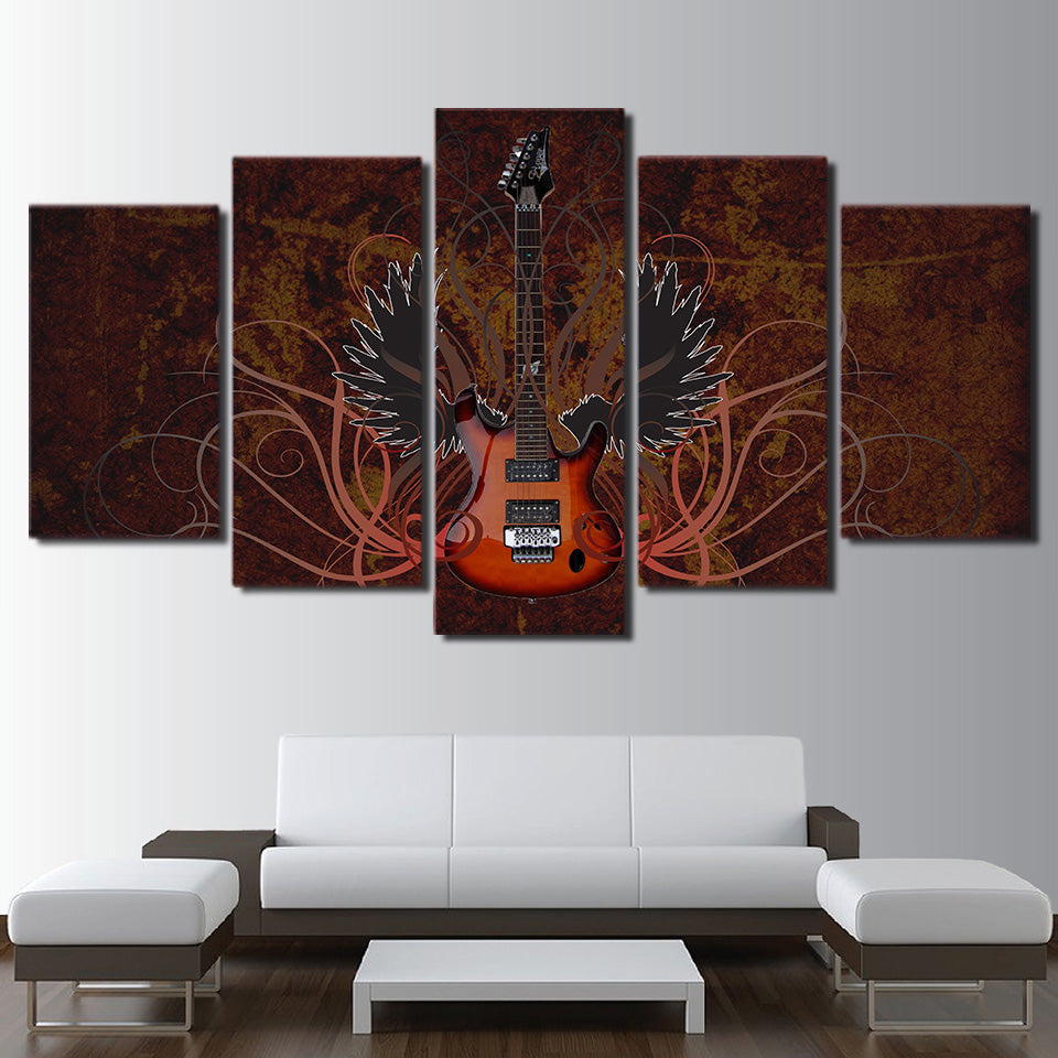 Wild Guitar Wall Art
