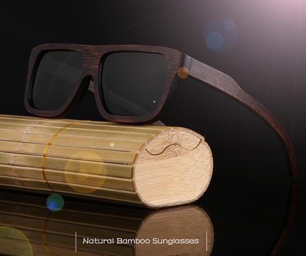 Bamboo Sleek Brown Sunglasses