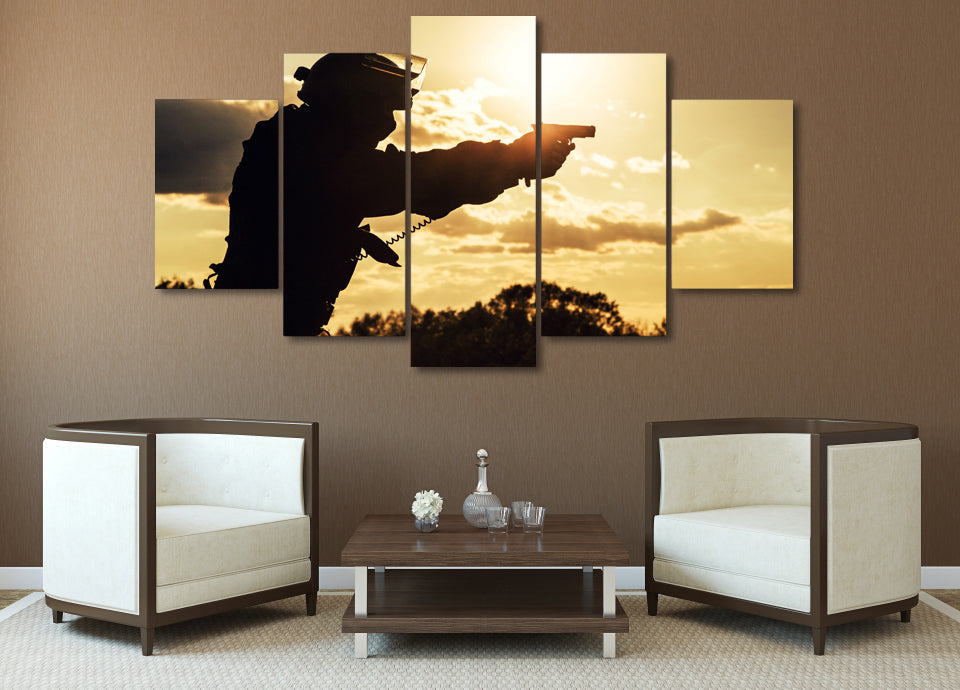 Army Troops Wall Art