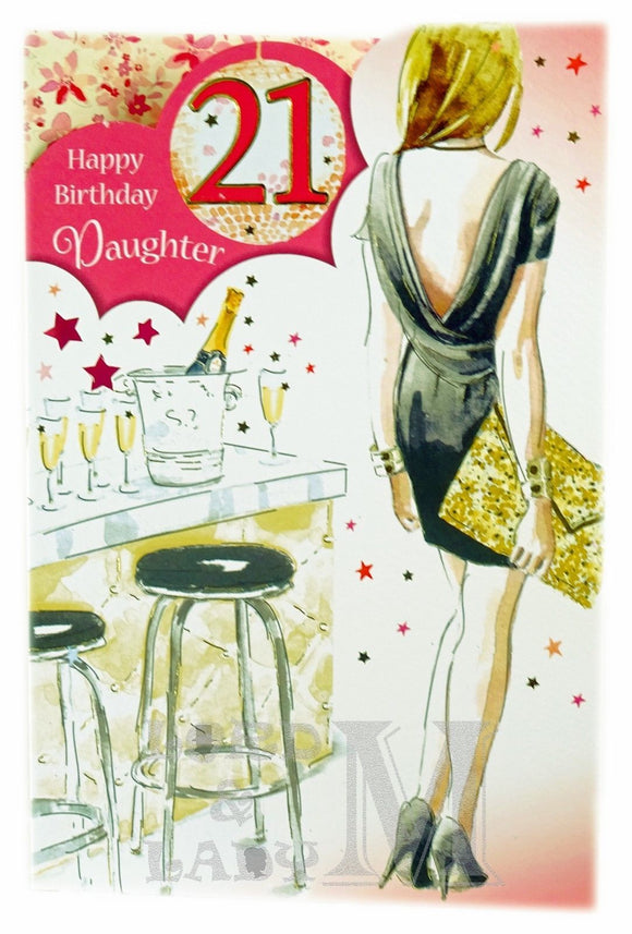 23cm - Happy Birthday Daughter 21 - P