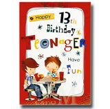 19cm - Happy 13th Birthday Teenager Have Fun - CWH