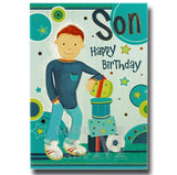 19cm - Son Happy Birthday - Football - P
