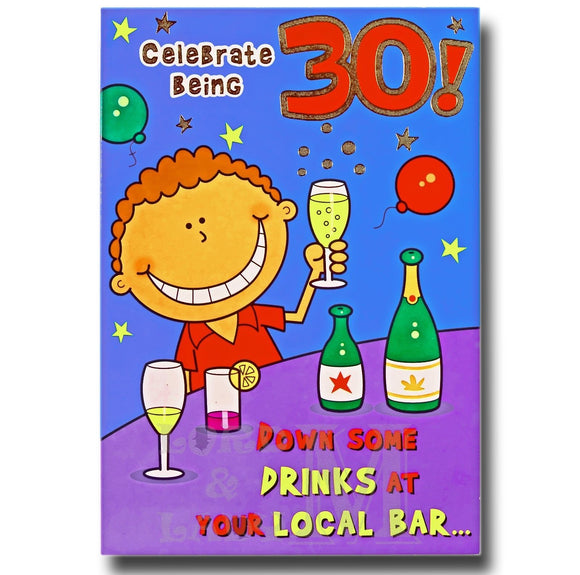 19cm - Celebrate Being 30! Down Some Drinks - CWH